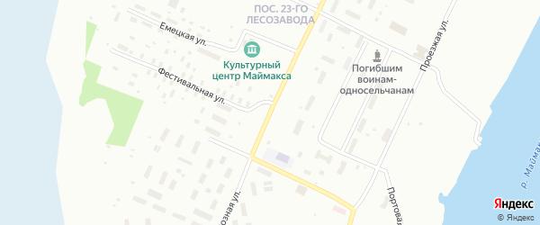 Колхозная улица на карте Архангельска с номерами домов