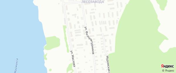 Улица Физкультурников на карте Архангельска с номерами домов