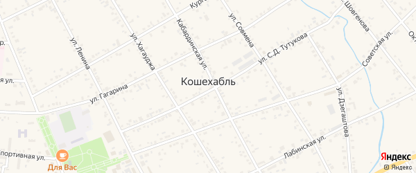 Восточная территория на карте аула Кошехабль с номерами домов