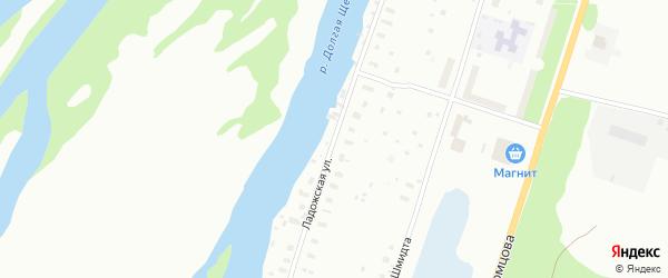 Ладожская улица на карте Архангельска с номерами домов