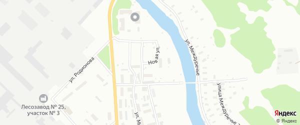 Новая улица на карте Архангельска с номерами домов