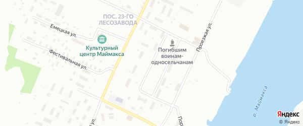 Двинской переулок на карте Архангельска с номерами домов