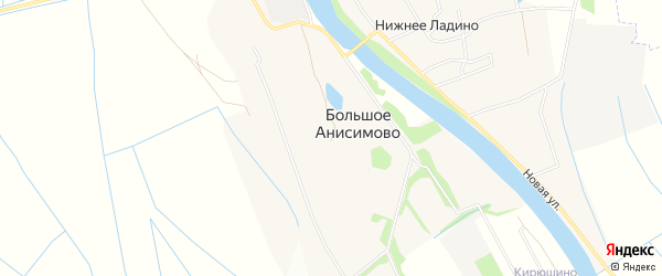 Карта деревни Большое Анисимово в Архангельской области с улицами и номерами домов