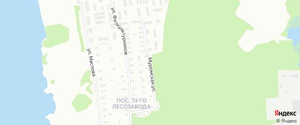 Муромская улица на карте Архангельска с номерами домов