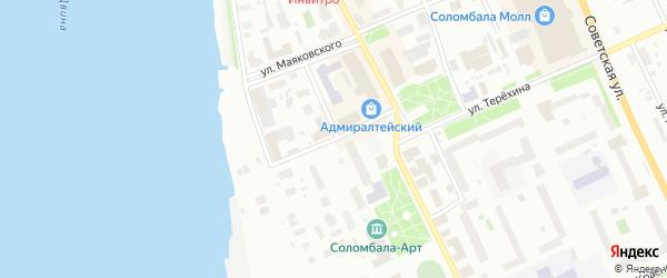 Улица Беломорской флотилии на карте Архангельска с номерами домов