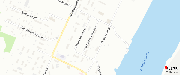 Лесоэкспортная улица на карте Архангельска с номерами домов