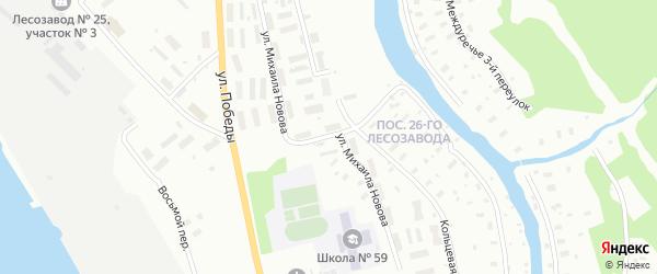 Улица Михаила Новова на карте Архангельска с номерами домов