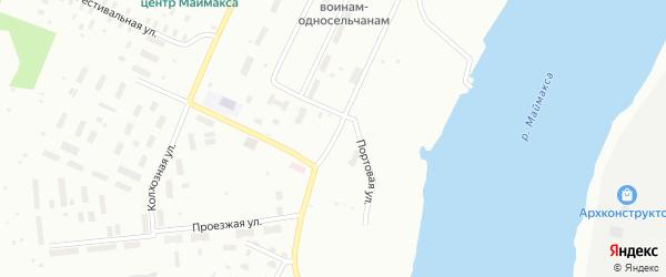 Проезжая улица на карте Архангельска с номерами домов