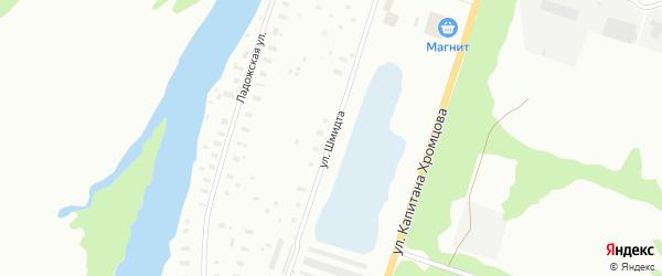 Улица Шмидта на карте Архангельска с номерами домов