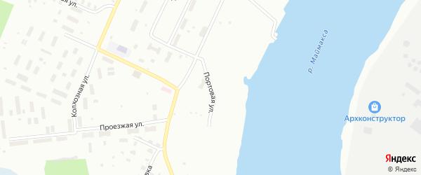 Портовая улица на карте Архангельска с номерами домов