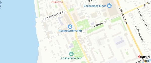 Площадь Терехина на карте Архангельска с номерами домов