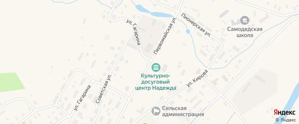 Первомайская улица на карте поселка Самодед с номерами домов