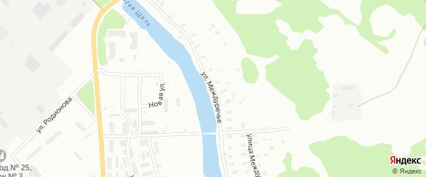Улица Междуречье на карте Архангельска с номерами домов
