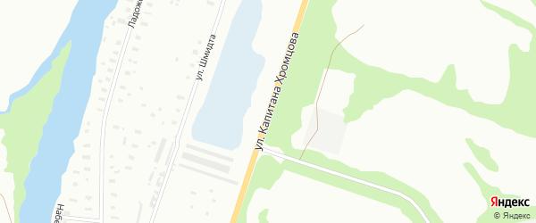 Улица Капитана Хромцова на карте Архангельска с номерами домов