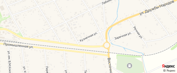 Кузнечная улица на карте аула Кошехабль с номерами домов