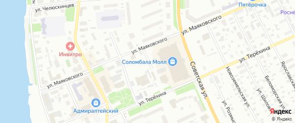 Улица Смолокурова на карте Архангельска с номерами домов