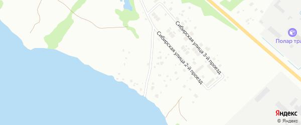 Сибирская 1-й проезд на карте Архангельска с номерами домов