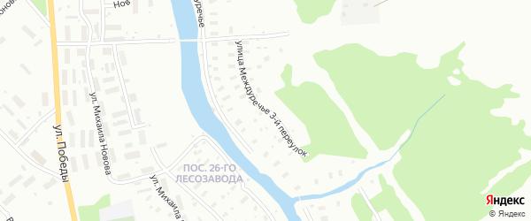 Улица Междуречье переулок 3-й на карте Архангельска с номерами домов