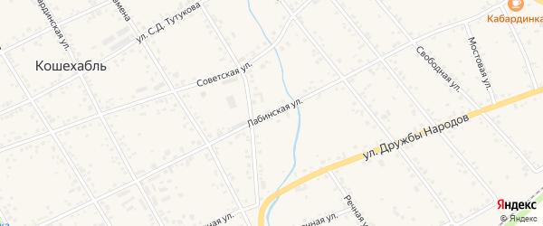 Лабинская улица на карте аула Кошехабль с номерами домов