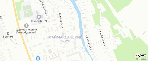 Кольцевая улица на карте Архангельска с номерами домов
