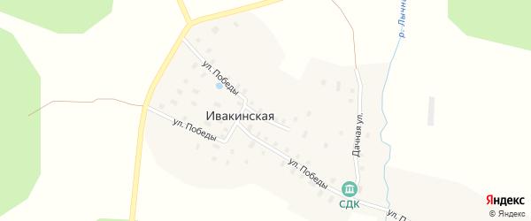 Дачная улица на карте Ивакинская деревни с номерами домов