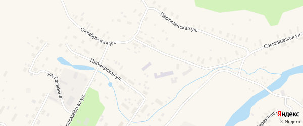 Набережная улица на карте поселка Самодед с номерами домов