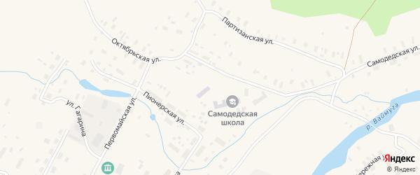 Садовая улица на карте поселка Самодед с номерами домов