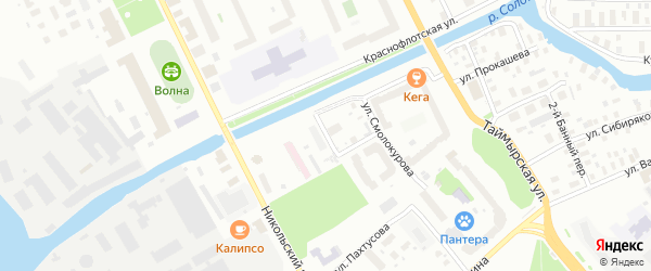 Улица Георгия Иванова на карте Архангельска с номерами домов