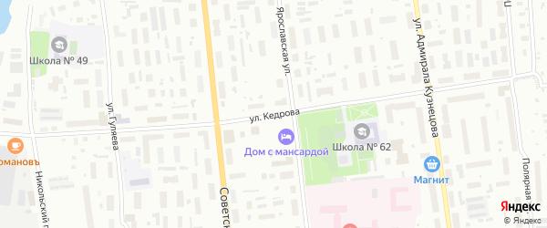 Улица Кедрова на карте Архангельска с номерами домов