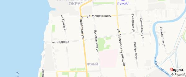 ГСК Кардан на карте улицы Кедрова с номерами домов