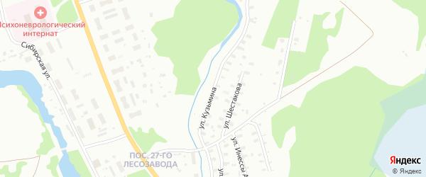 Улица Кузьмина на карте Архангельска с номерами домов