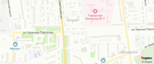 Улица Красных партизан на карте Архангельска с номерами домов