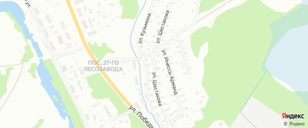 Улица Шестакова на карте Архангельска с номерами домов