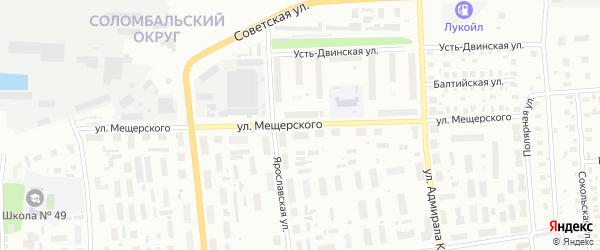 Улица Мещерского на карте Архангельска с номерами домов