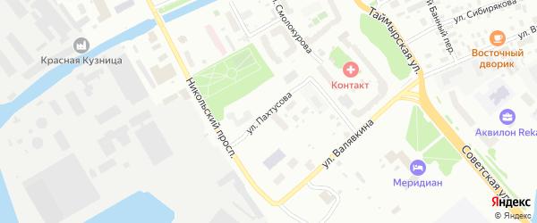 Улица Пахтусова на карте Архангельска с номерами домов