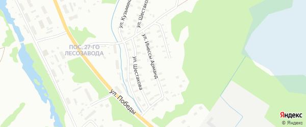 Улица Инессы Арманд на карте Архангельска с номерами домов
