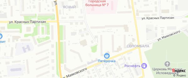Ярославская улица на карте Архангельска с номерами домов