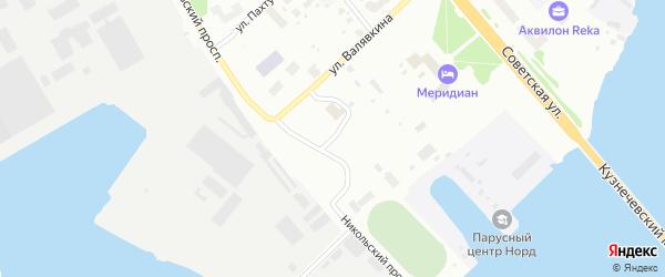 Улица Левачева на карте Архангельска с номерами домов