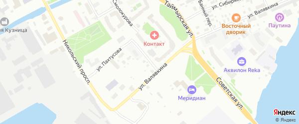 Банный 1-й переулок на карте Архангельска с номерами домов