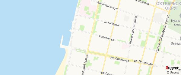 ГСК Кедр на карте Троицкого проспекта с номерами домов