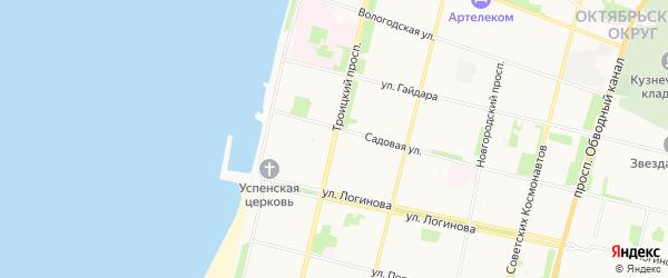 ГСК Геолог на карте Троицкого проспекта с номерами домов