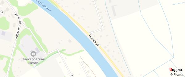 Новая улица на карте деревни Нижнее Ладино с номерами домов