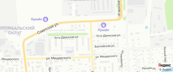 Усть-Двинская улица на карте Архангельска с номерами домов
