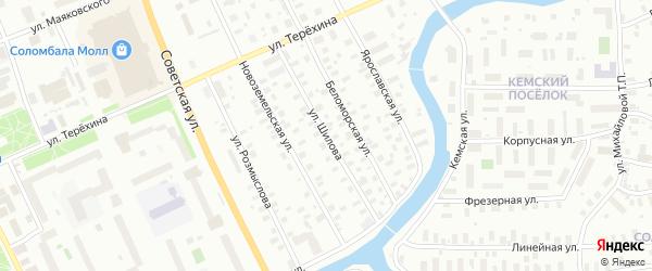 Улица Шилова на карте Архангельска с номерами домов