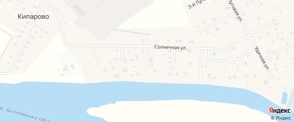 Солнечный 3-й переулок на карте деревни Верхнее Ладино с номерами домов