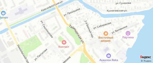 Таймырская улица на карте Архангельска с номерами домов