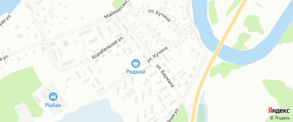Улица Кучина на карте Архангельска с номерами домов