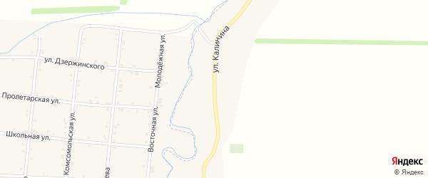 Улица Калинина на карте хутора Чехрака с номерами домов