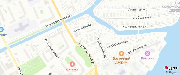 Улица Закемовского на карте Архангельска с номерами домов