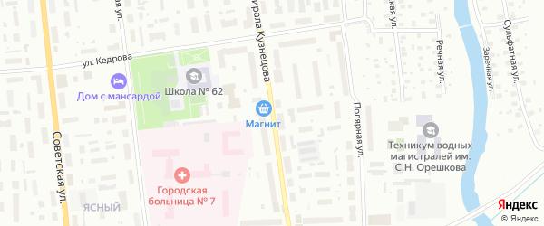 Улица Адмирала Кузнецова на карте Архангельска с номерами домов